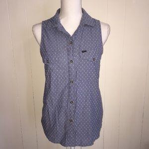 Hurley Sleeveless Button-Up Shirt